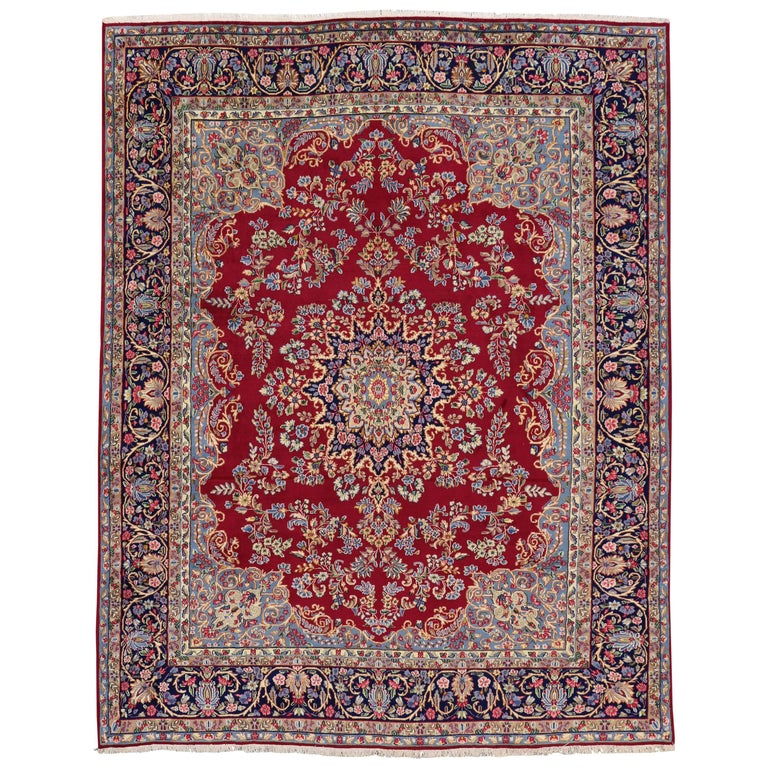 Vintage Persian Kerman Rug with Traditional Modern Style