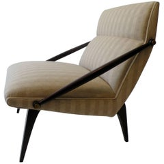 1950s Gio Ponti Style Cantilevered Lounge Chair Made by Singer & Sons