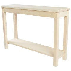 "Small ""Lore"" Console Table Bleached Maple, Modern Shaker-Style"
