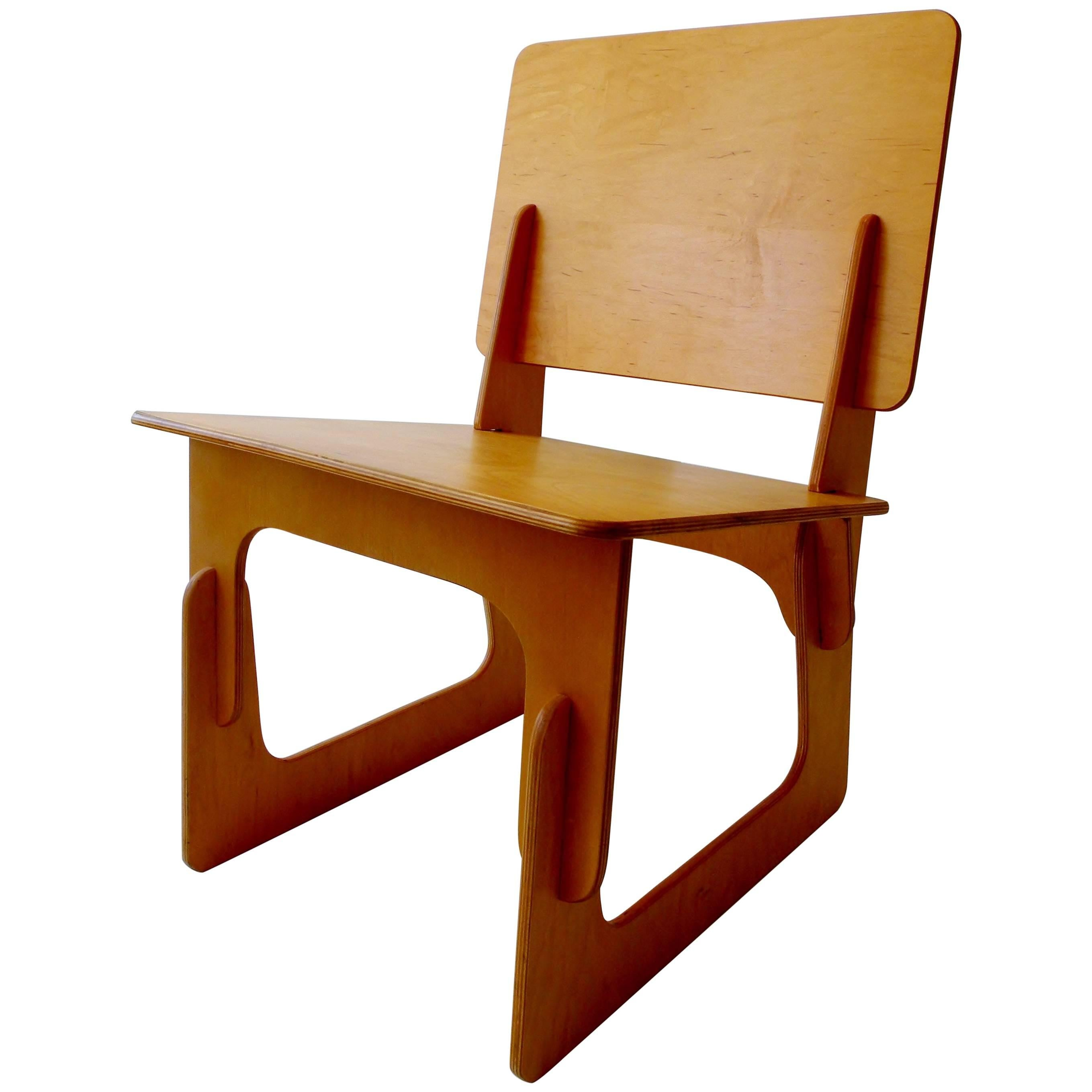 Lovely Post War Knockdown Furniture Co Plywood Lounge Chair For Sale