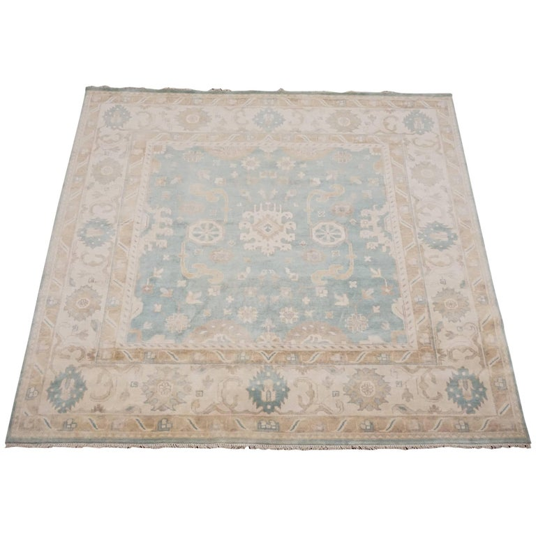Green Square Oushak Area Rug For Sale At 1stdibs