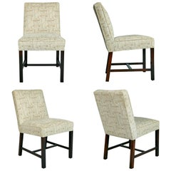 Dunbar Upholstered Dining Chairs, Set of Four, circa 1970