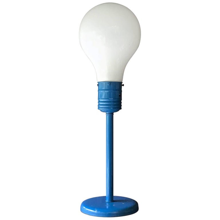 Pop Art Gag Store Blue Table Lamp in Think Big or Ingo Mauri Style, 1970s