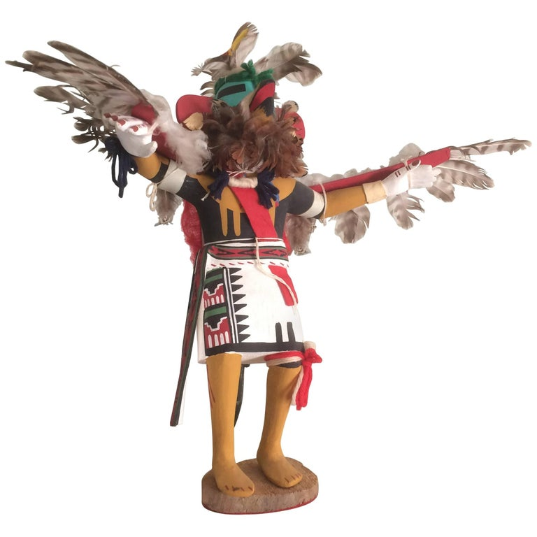 vintage hopi eagle kachina katsina doll by ron duwyenie. Black Bedroom Furniture Sets. Home Design Ideas