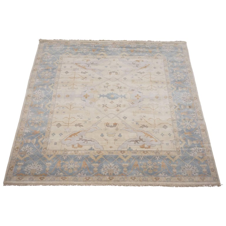 10x10 Square New Oushak Oriental Wool Area Rug: Square Beige Oushak Area Rug For Sale At 1stdibs