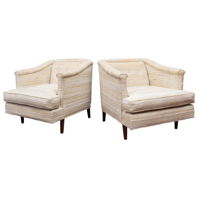 Edward Wormley Lounge Chairs for Dunbar For Sale
