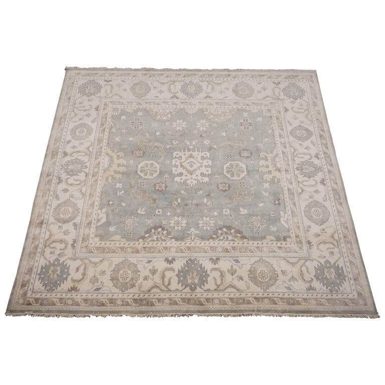 10x10 Square New Oushak Oriental Wool Area Rug: Square Oushak Design Area Rug For Sale At 1stdibs