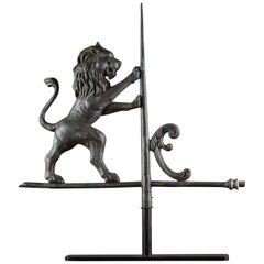 Late 19th Century Full Bodied Lion Weathervane