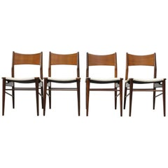 Set of Four Cees Braakman Style Dining Chairs