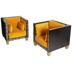 Elizabeth Garouste and Mattia Bonetti, Pair of Club Chairs