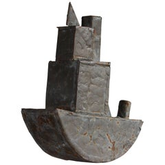 Steel with Patinated Brass Brazed Tugboat