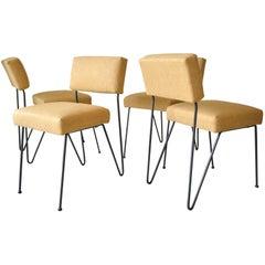 Rare Set of Four Iron Chairs by Vista of California, circa 1955