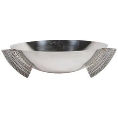 Christofle Silver Plated Egyptian Revival Bowl