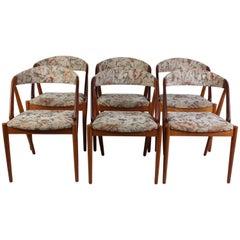 Danish Midcentury Teak and Oak Dining Chairs by Kai Kristiansen