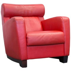 De Sede Designer Leather Chair Red One Seat