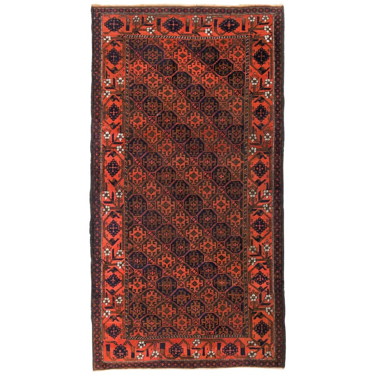 Antique Tribal Baluch Rug