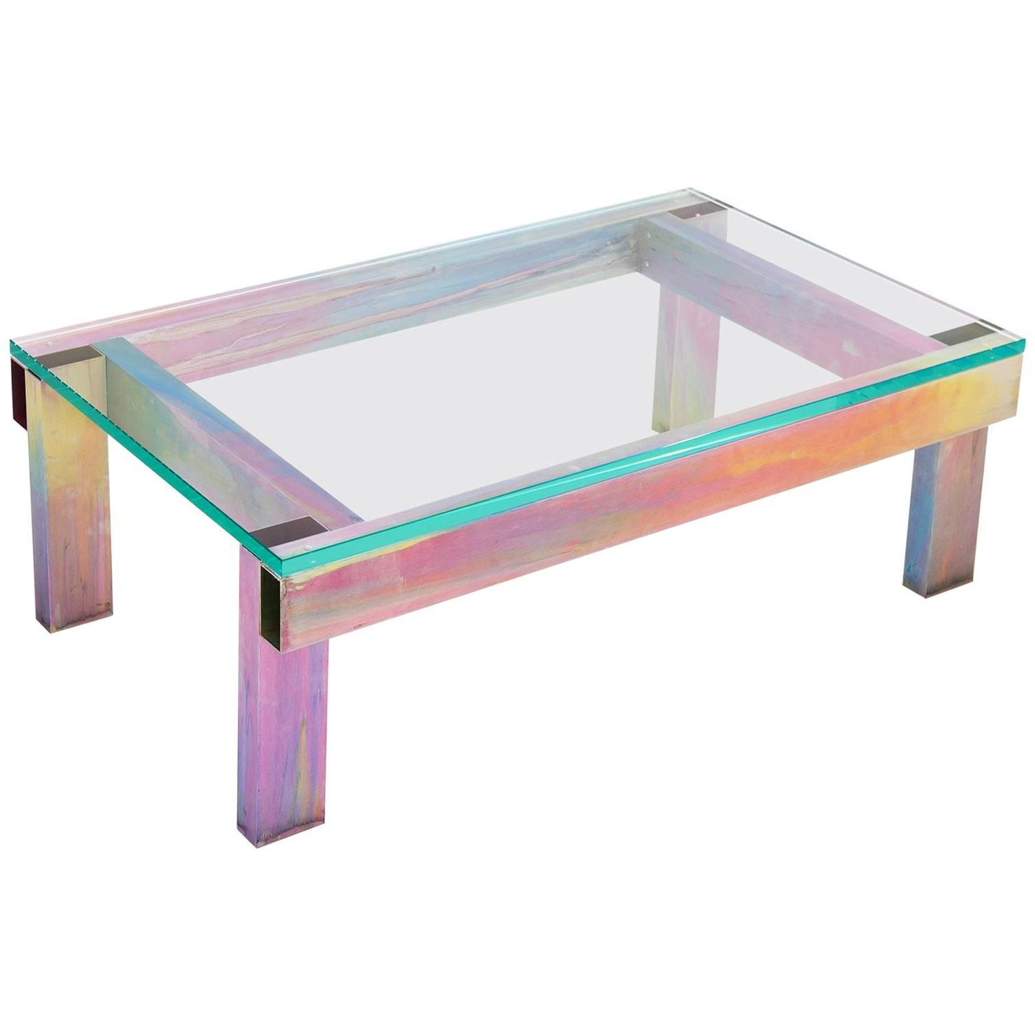 Anodized Aluminium Coffee Table by Fredrik Paulsen For Sale at 1stdibs