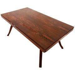 French Art Deco Nussbaum Tisch