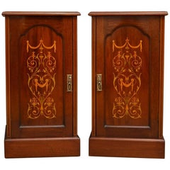 Edwardian Mahogany Bedside Cabinets by Maple & Co.