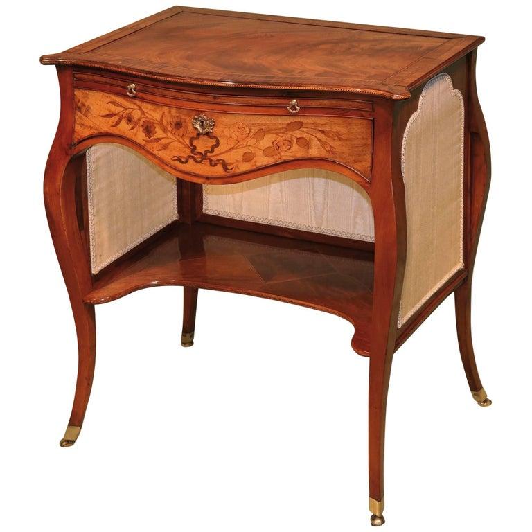 18th Century 'French hepplewhite' mahogany ladies writing table