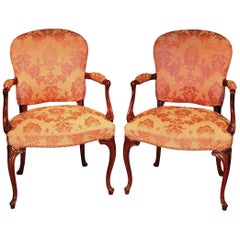 Pair of Late 18th Century Mahogany Armchairs
