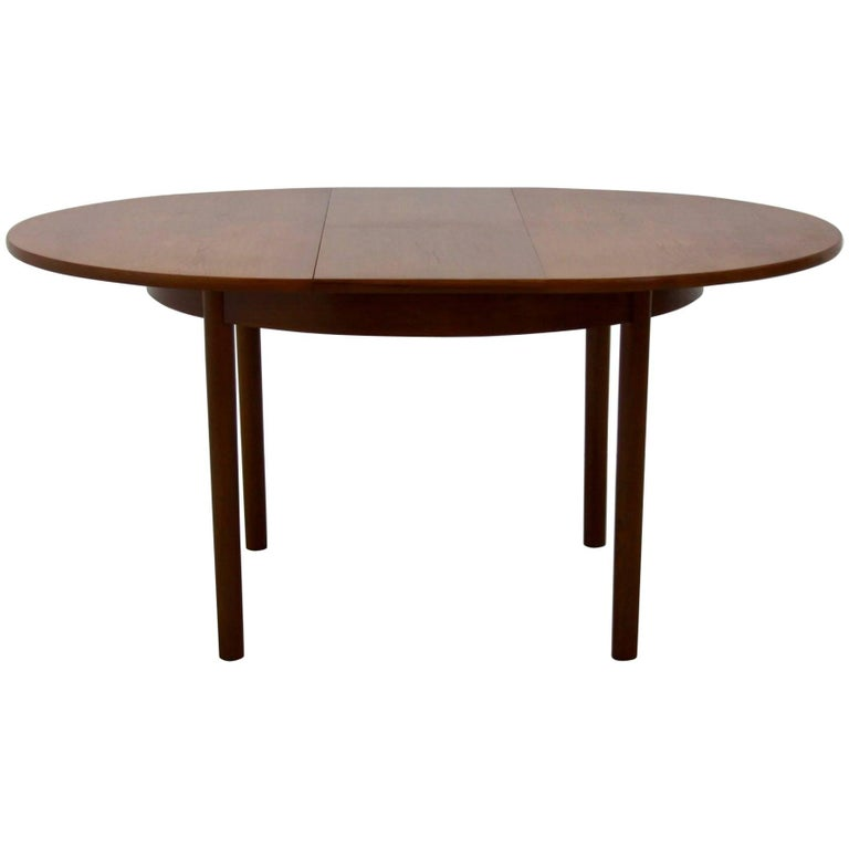 Midcentury Extendable Teak Dining Table From Vanson 1960s For