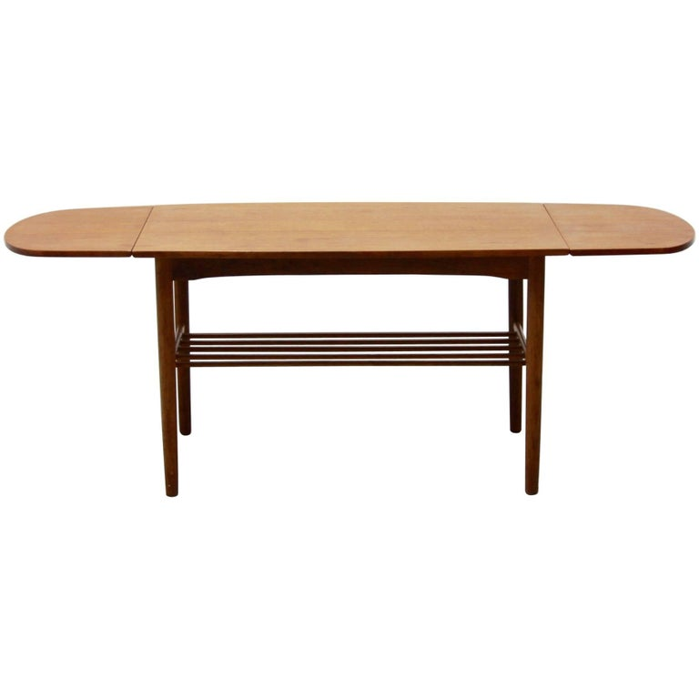 Vintage danish extendable coffee table 1960s for sale at 1stdibs - Telescopic coffee table ...