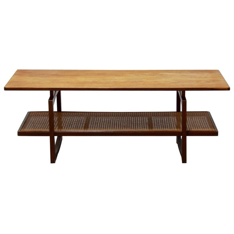 G Plan Vintage Coffee Tables: Vintage Teak And Rattan Coffee Table From G-Plan, 1970s