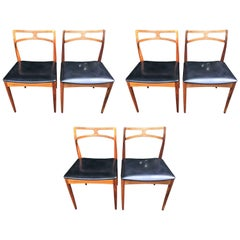 Six Danish Rosewood Dining Chairs by Johannes Andersen for Christian Linneberg