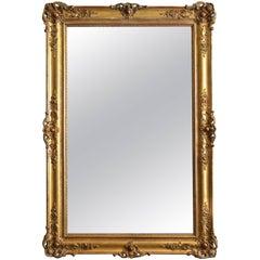 Monumental XIXth Century Giltwood Mirror