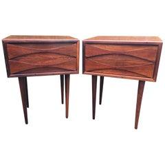 Pair of Midcentury Rosewood Bedside Tables by Arne Vodder for NC Mobler