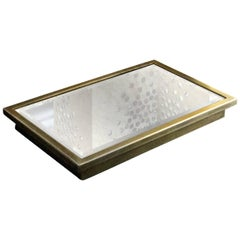 Vulcano Tray Plated with Antique Mirror Surface