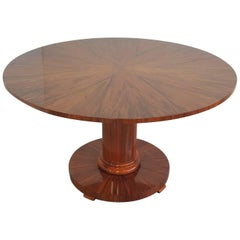 Biedermeier Centre Hall Table in Walnut High Polish Lacquer