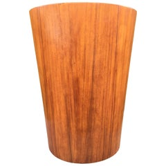 Very Rare Large Laminated Teak Bin by Martin Aberg for Servex, Sweden