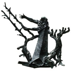 Bronze Religious Sculpture of Moses Parting the Red Sea from a NJ Synagogue