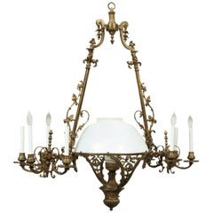 Fine Antique Bronze Light Fixture