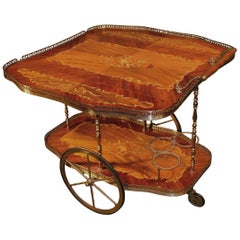 Edwardian rosewood drinks trolley