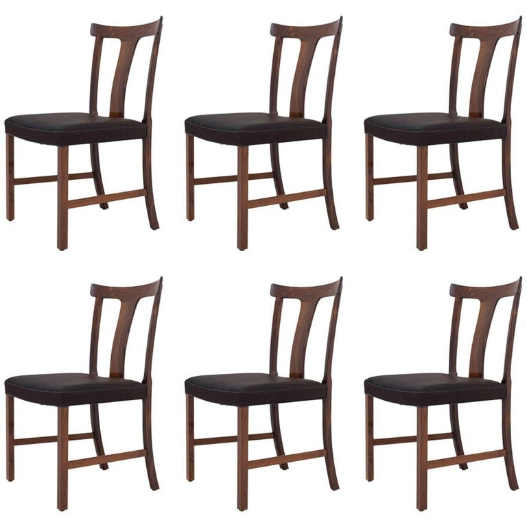 Dining Chairs in Rosewood by Ole Wanscher