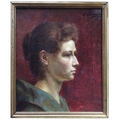 "Djef Swennen Flemish Painter ""Women"" 1893 Museum Exposition"