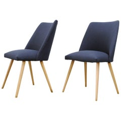 Saarinen Style Dining Chairs in Navy