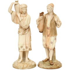 Superb Pair of Royal Worcester Orientalist Figures