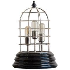 Modern Silver Beehive Lamp, Holland