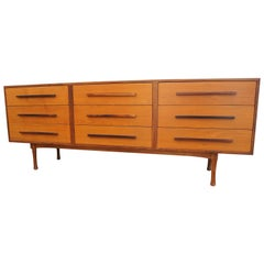 Danish Modern Teak and Rosewood Low Dresser