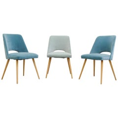 Saarinen Style Dining or Cocktail Chairs in Velvet