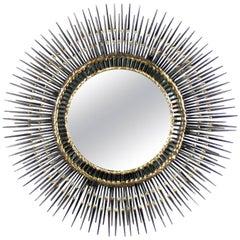 Sculptural Sunburst Nail Mirror