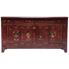 Mongolian Floral Painted Storage Chest