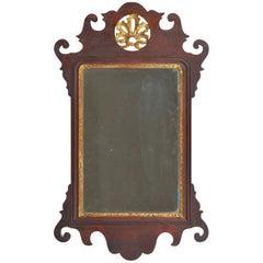 Rare Diminutive Size Chippendale Mirror