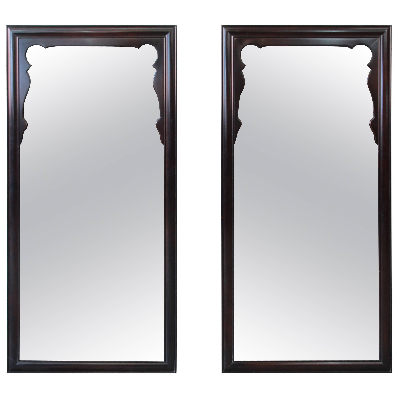 Broyhill Brasilia Mid Century Modern Walnut Framed Mirror For Sale At