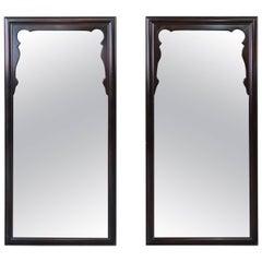 Midcentury Hollywood Regency Chinoiserie Mirrors, Pair