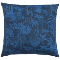 Jungle Dream Pillow in Color Mediterranean 'Cobalt Blue on Navy Blue'